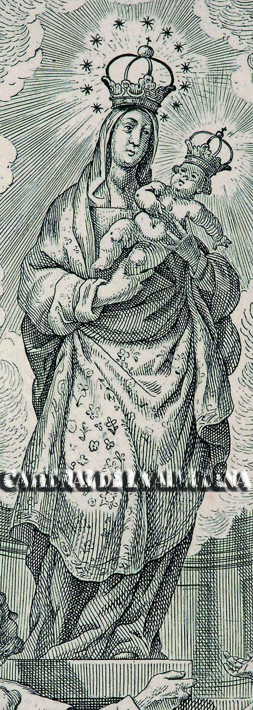 Grabado de Sta. María la Real de la Almudena